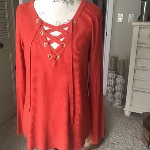 🍁Sexy Tie up textured Tunic